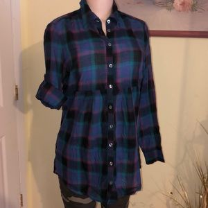 New York & Co. checkered button down shirt